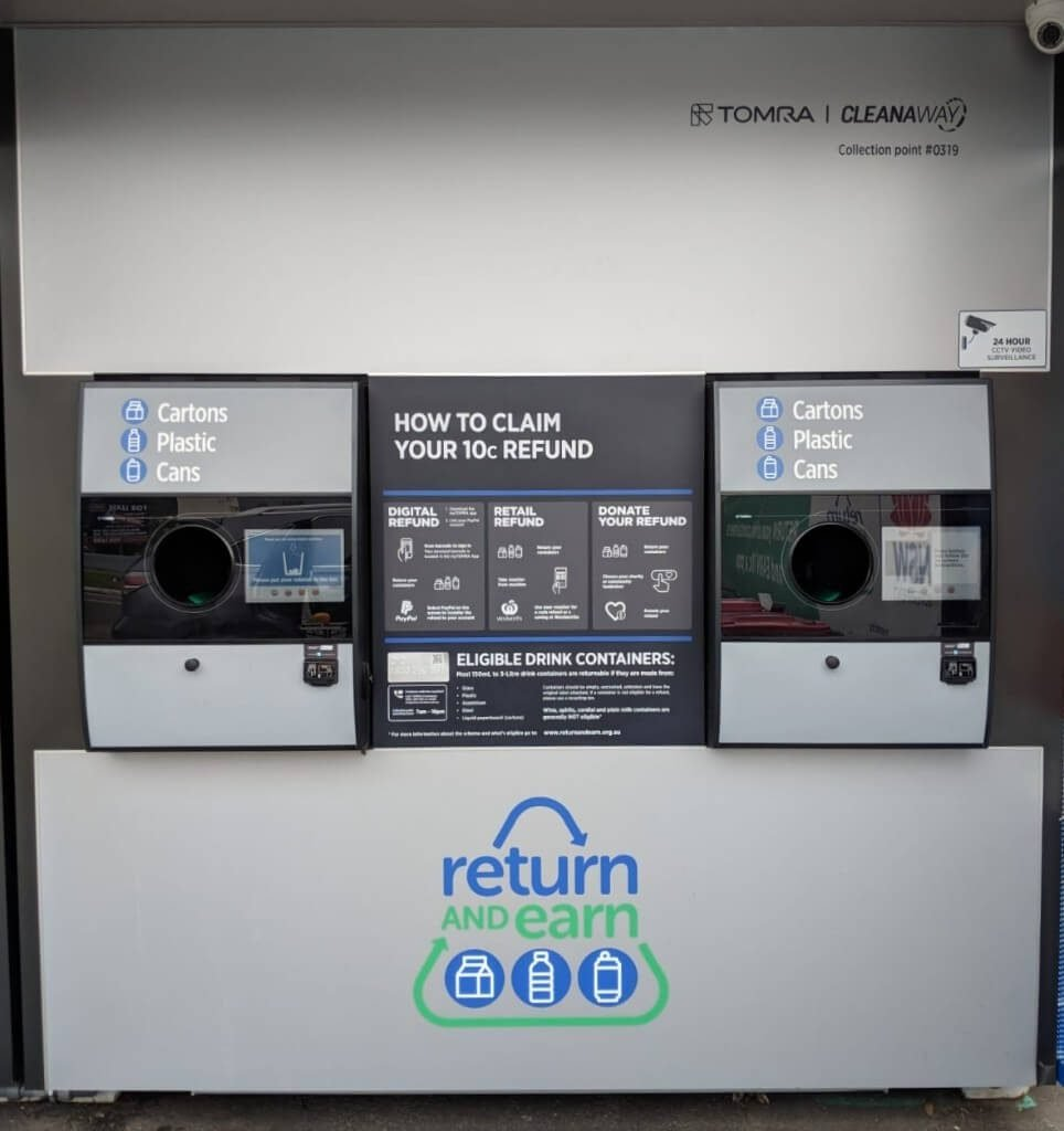 Return and Earn Reverse Vending Machine