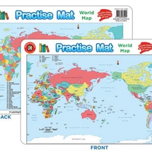 Learning Can Be Fun World Map Practise Mat